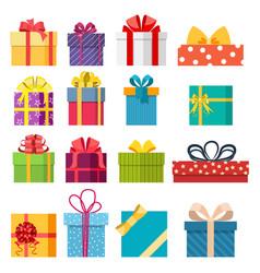 set of christmas gift box vector image