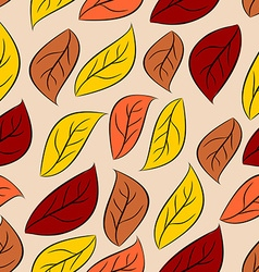 Autumn leaves seamless pattern natural background vector image vector image