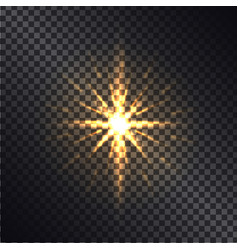 bright golden shiny sparkle isolated vector image