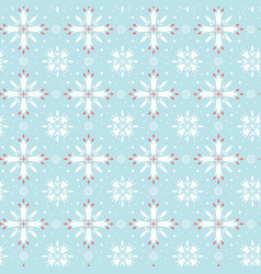 floral snowflake seamless pattern vector image vector image