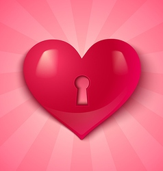 keyhole pink heart vector image vector image
