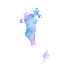 map of bahrain polygon vector image vector image