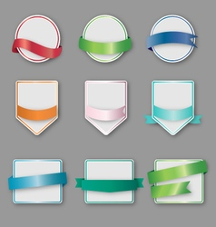 Set of banners with ribbon vector image