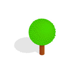 Spherical tree icon isometric 3d style vector image vector image