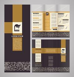 Vintage brochure template design vector image vector image