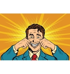 businessman smiling falsely vector image vector image