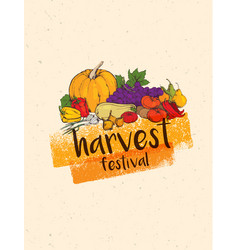 thanksgiving autumn background vector image