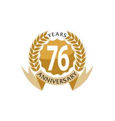 76 years ribbon anniversary vector image vector image
