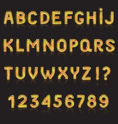 Alphabet abc glowing alphabetical font vector