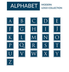 alphabet logo template collection vector image