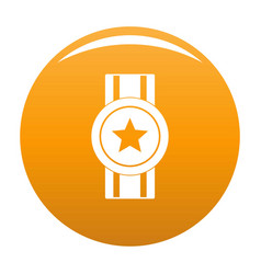 award ribbon icon orange vector image