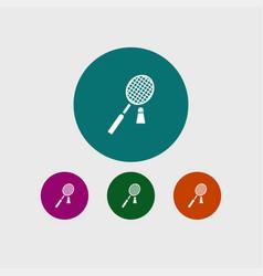 Badminton icon simple vector