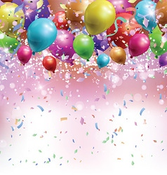 Balloons confetti and streamers background 0305 vector
