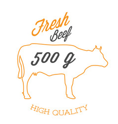Bbq fresh beef 500g high quality image vector