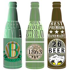 beer bottle graphic design vector image
