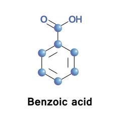 benzoic acid molecule vector image