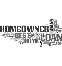 best homeowner loans perfect package for vector image