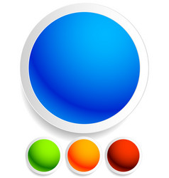 bright colorful button badge pin backgrounds with vector image