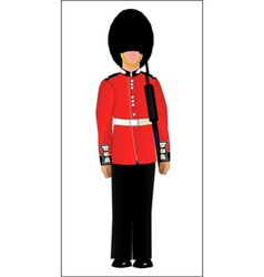 British Soldier On Guard Duty vector image