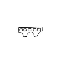 building cartoon icon vector image