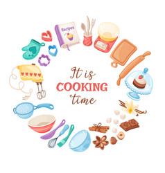 Cartoon baking banner vector