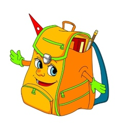 Cartoon school satchel vector
