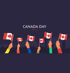 celebration happy canada day july 1st vector image