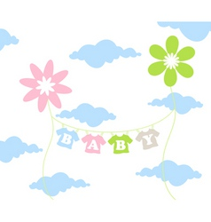 children flower vector image