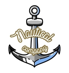 Color vintage nautical emblem vector image