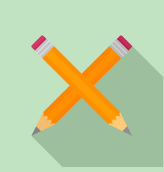 crossed pen icon flat style vector image
