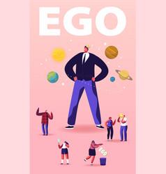 Ego narcissistic self love behavior concept vector