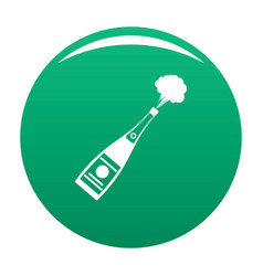 Explosion champagne icon green vector