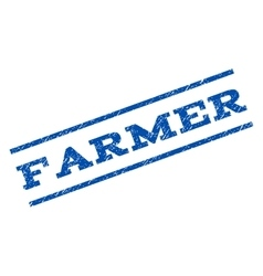 Farmer Watermark Stamp vector image