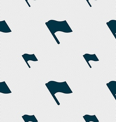 Finish start flag icon sign Seamless pattern with vector