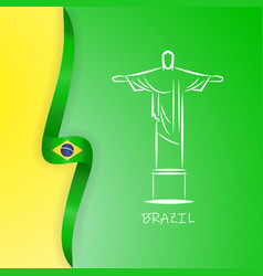 flag of brazil federative republic of brazil vector image