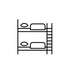 furniture for hostel bunk bed linear icon vector image