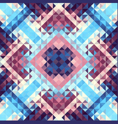 Geometric seamless pattern of a cubes in low poly vector
