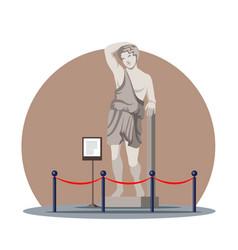 Greek sculpture antique statue in historic museum vector