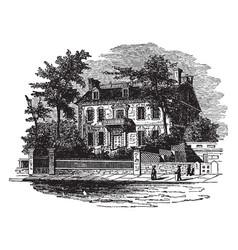 hancocks house boston vintage vector image