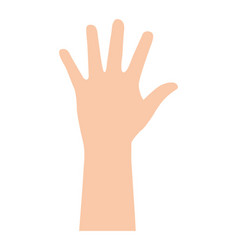 hands human up isolated icon vector image