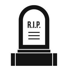 Headstone icon simple style vector