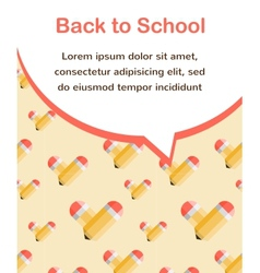 i love school background vector image