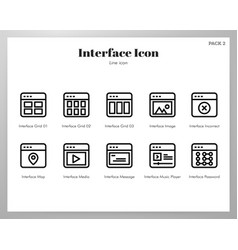 interface icon line pack vector image