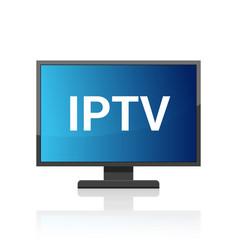 Iptv icon ip tv video channel box concept vector