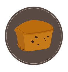 Isolated muffin icon vector