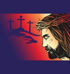 Jesus christ son god calligraphic text vector