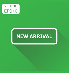 New arrival seal stamp icon business concept vector