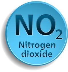 Nitrogen dioxide vector image