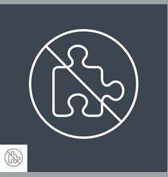 No plugin icon vector