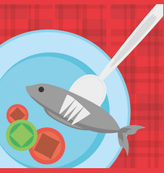 Nutrition food fresh health image vector